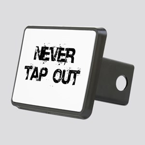 Never Tap Out Rectangular Hitch Cover