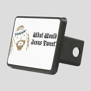 jesus-tweet Rectangular Hitch Cover
