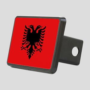 Flag of Albania Rectangular Hitch Cover