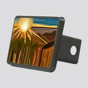 Dance of the Cacti Abstrac Rectangular Hitch Cover