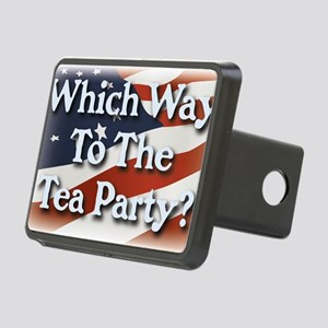 wwtteaparty_v2 Rectangular Hitch Cover