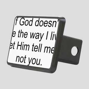 God Way I Live2 Rectangular Hitch Cover