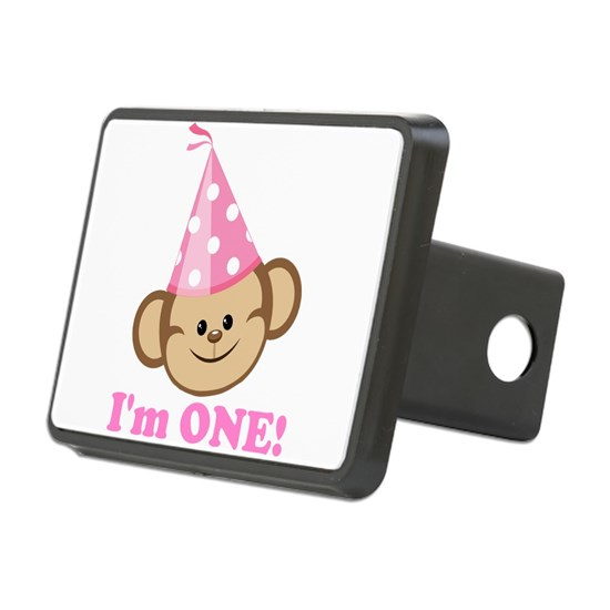 First Birthday Monkey Pink