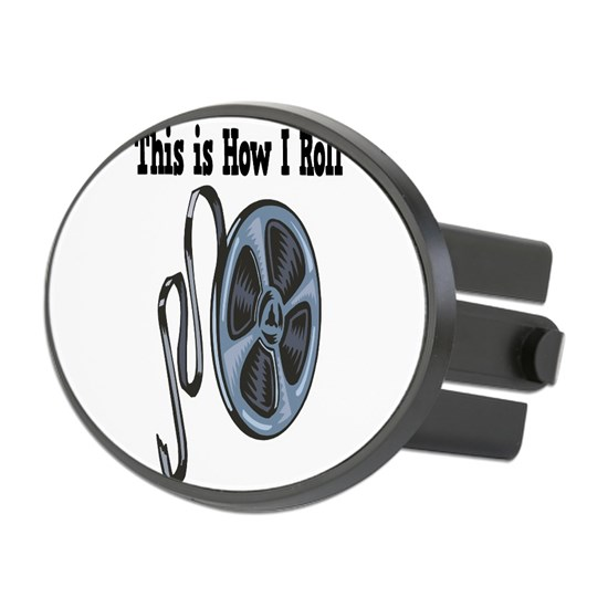 How I Roll Movie Film Tape Oval Hitch Cover