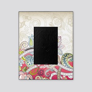 Abstract Floral Picture Frame