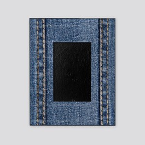 Faded Blue Denim A (Vertical) Picture Frame