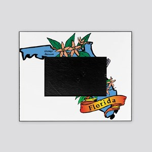 21306664-florida-flag-map Picture Frame