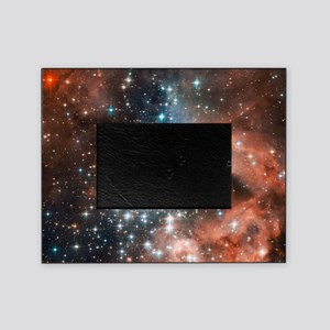 Space galaxy nebula bright stars nas Picture Frame