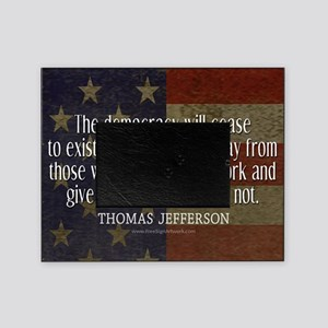 Democracy Quote Picture Frame