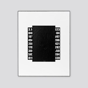 Pi number in black Picture Frame