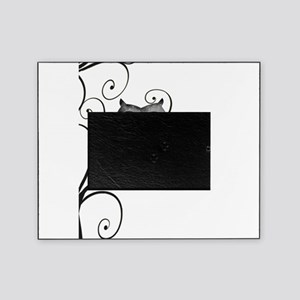 Black White Swirly Tree Owl Picture Frame