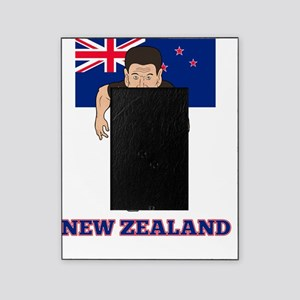rugby player new zealand flag Picture Frame