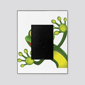 Happy Green Frog Picture Frame