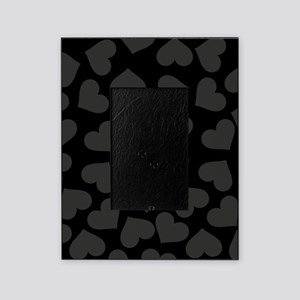 BLACK HEARTS Picture Frame