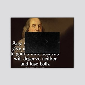 Ben Franklin Quote Picture Frame