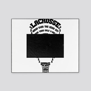 Lacrosse Defense Words Picture Frame