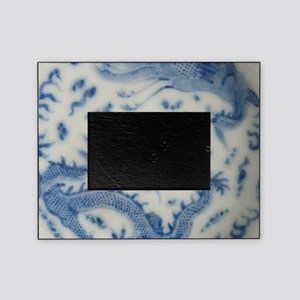 blue and white chinoiserie delft vin Picture Frame