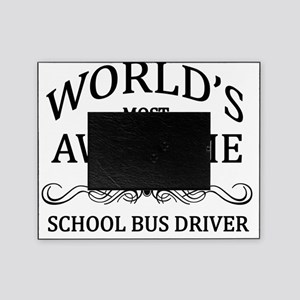 school bus driver Picture Frame