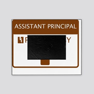 Assistant Principal Powered by Coffe Picture Frame