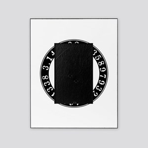 Pi symbol circle Picture Frame