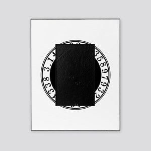 Pi sign in circle Picture Frame