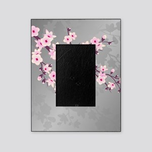 Pink Gray Shimmering Cherry Blossom Picture Frame
