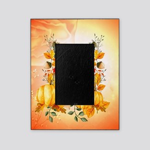 Happy thanksgiving with pumpkin Picture Frame