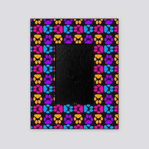 Whimsical Cute Paws Pattern Picture Frame