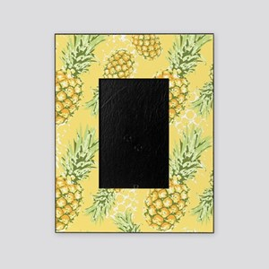 Tropical Pineapple on Pastel Yellow Picture Frame