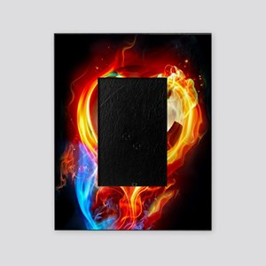 Flaming Football Ball Picture Frame