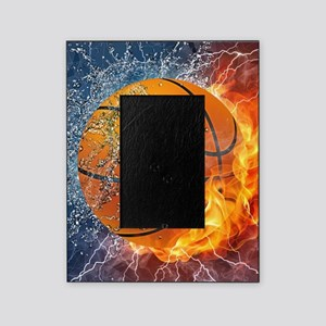 Flaming Basketball Ball Splash Picture Frame