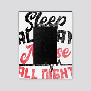 Night Shift Nurse Gift graphic Sleep Picture Frame