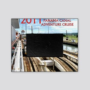 Panama Canal - rect. photo- black ed Picture Frame