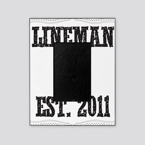 lineman born DASHED Picture Frame