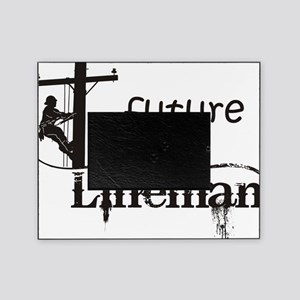 future lineman1_black Picture Frame
