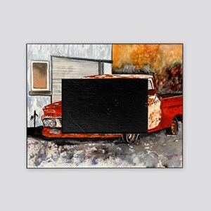 old pickup truck antique automobile Picture Frame