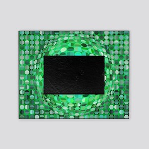 Optical Illusion Sphere - Green Picture Frame