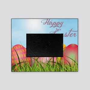 Happy Easter Decorated Eggs Picture Frame