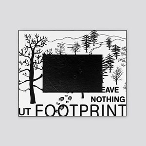 Leave Nothing but Footprints BLK Picture Frame