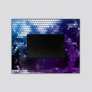 white blue purple tile Picture Frame