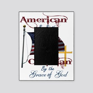 American by Birth Christian By Grace Picture Frame