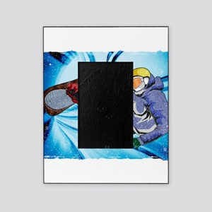 Snowboarder in Edgy Snow Storm Picture Frame