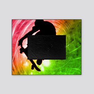 Skateboarder in a Psychedelic Cyclon Picture Frame