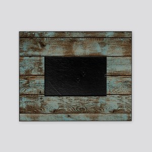 rustic western turquoise barn wood Picture Frame