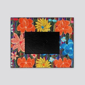 Mexican Flower Embroidery Picture Frame