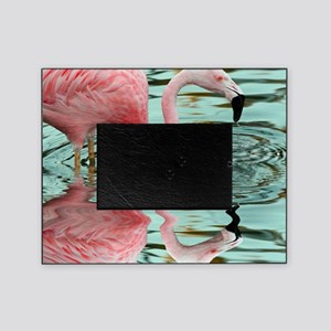 Pink Flamingo Reflection Picture Frame