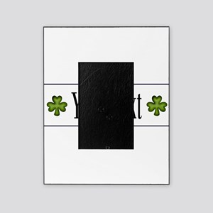 Personalizable Green Shamrock Picture Frame