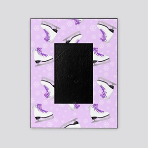 Purple Figure Skating Pattern Picture Frame
