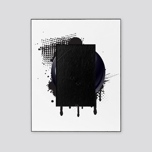 Abstract Black Ink Splotch with BILL Picture Frame