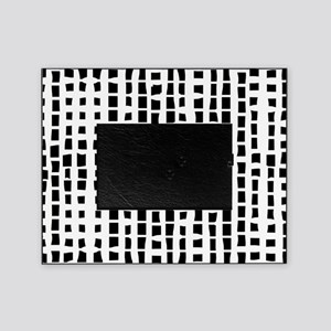 Modern White on black abstract bamboo Picture Fram